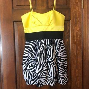 Cute zebra print dress!